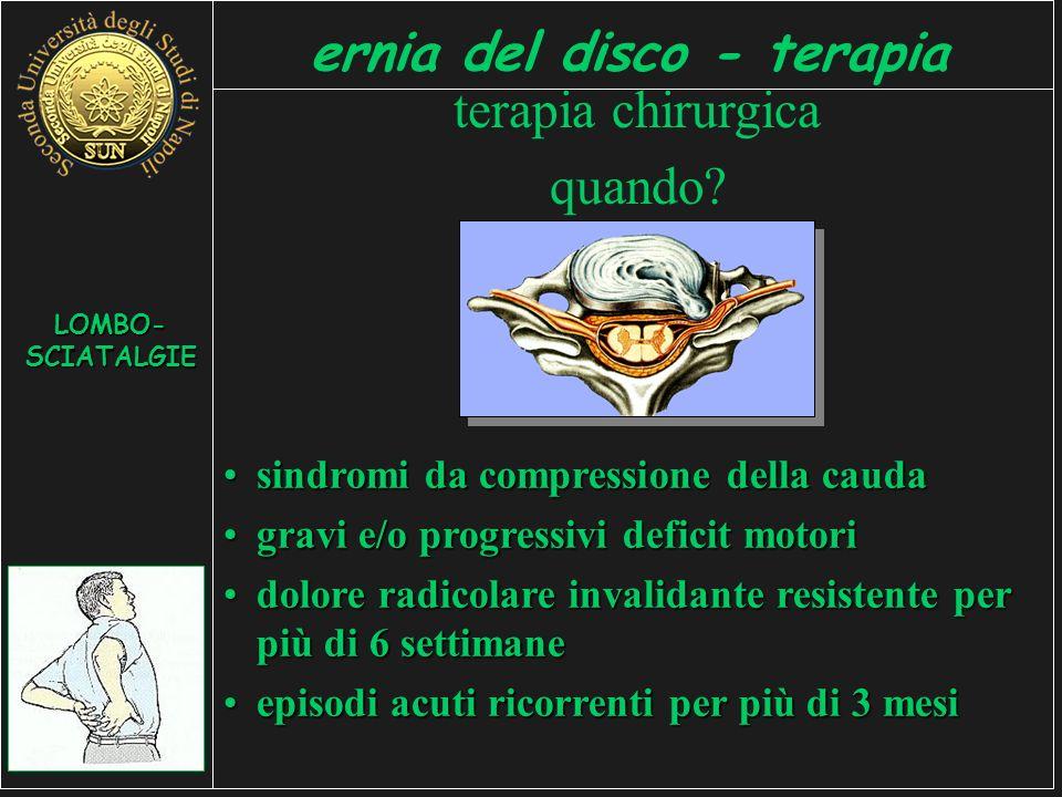 ernia del disco - terapia