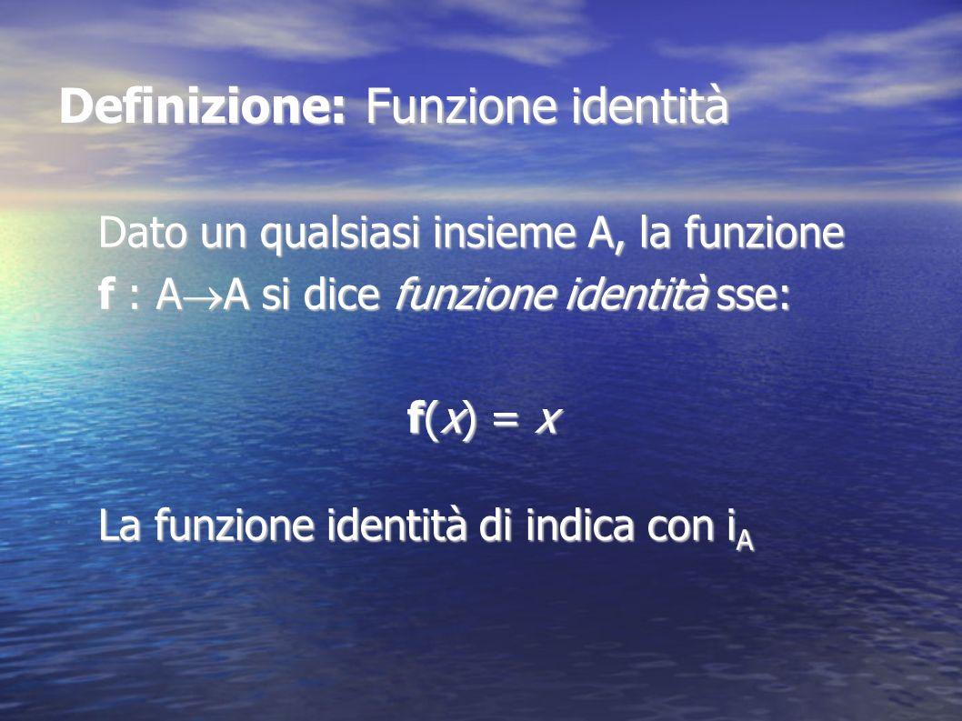 Definizione: Funzione identità