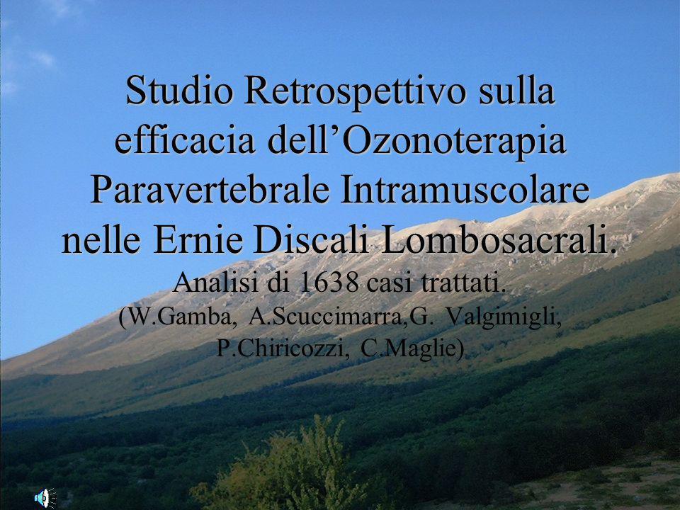 Studio Retrospettivo sulla efficacia dell'Ozonoterapia Paravertebrale Intramuscolare nelle Ernie Discali Lombosacrali.