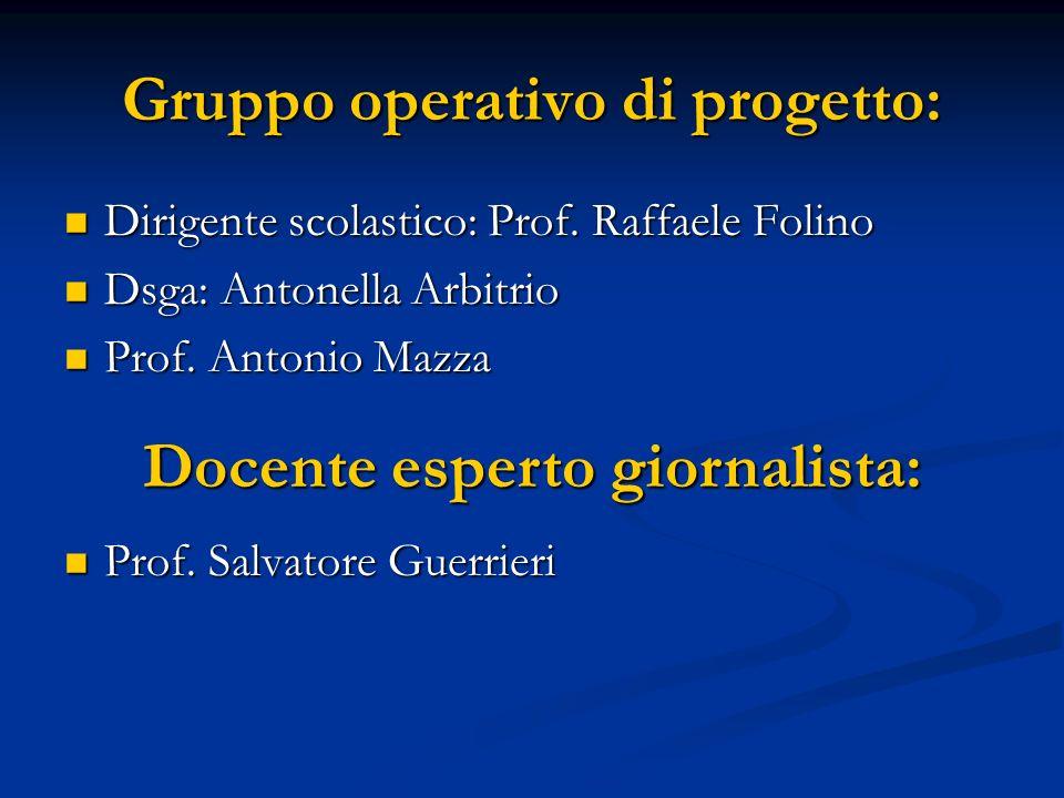 Gruppo operativo di progetto: