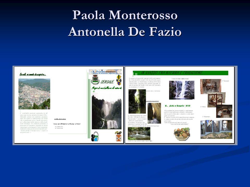 Paola Monterosso Antonella De Fazio