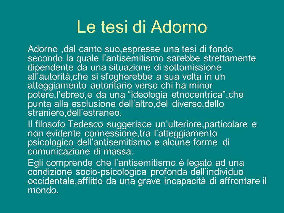Le tesi di Adorno