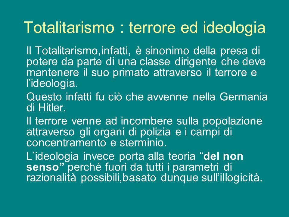 Totalitarismo : terrore ed ideologia