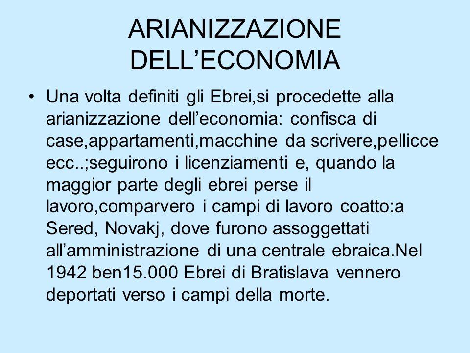 ARIANIZZAZIONE DELL'ECONOMIA