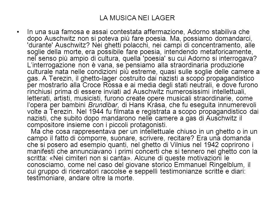 LA MUSICA NEI LAGER