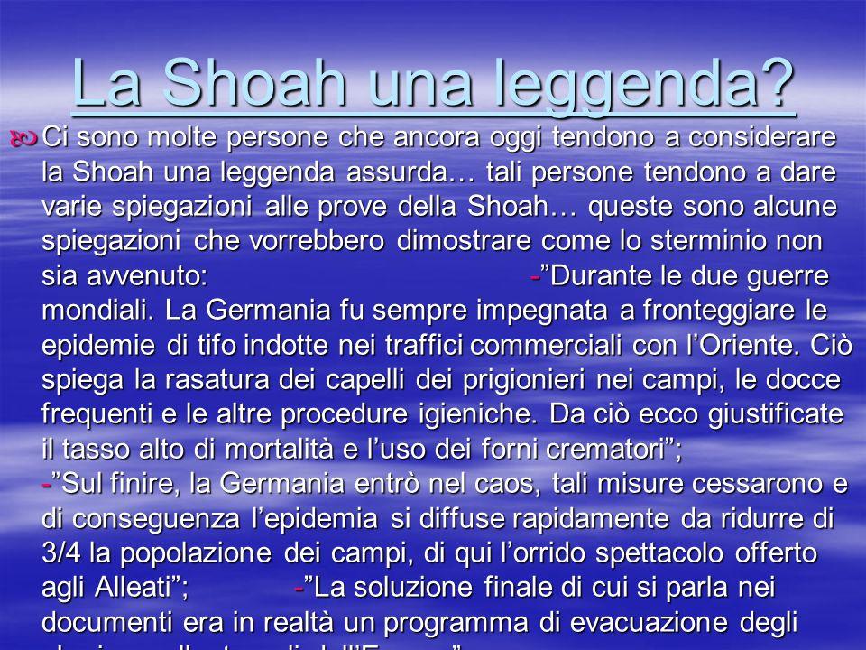 La Shoah una leggenda
