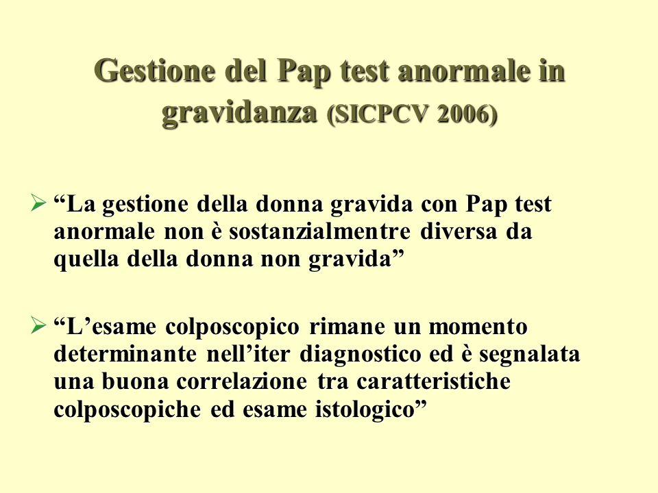 Gestione del Pap test anormale in gravidanza (SICPCV 2006)