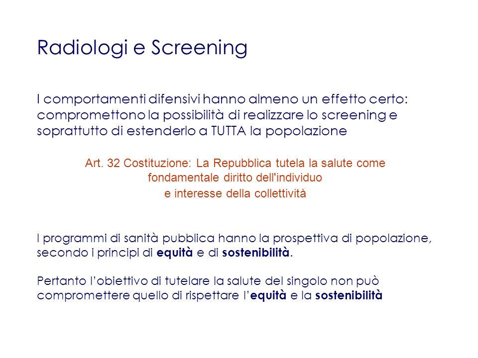 Radiologi e Screening
