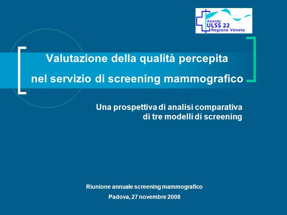 Una prospettiva di analisi comparativa di tre modelli di screening