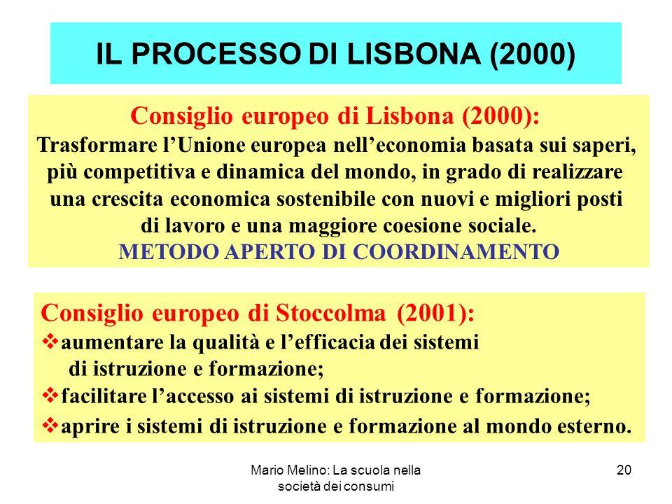 IL PROCESSO DI LISBONA (2000)