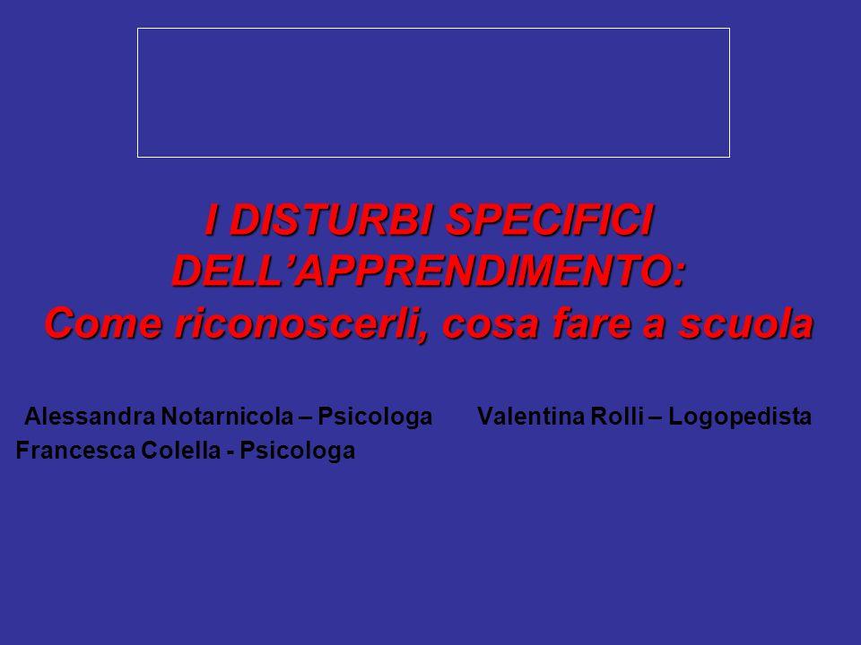 Alessandra Notarnicola – Psicologa Valentina Rolli – Logopedista