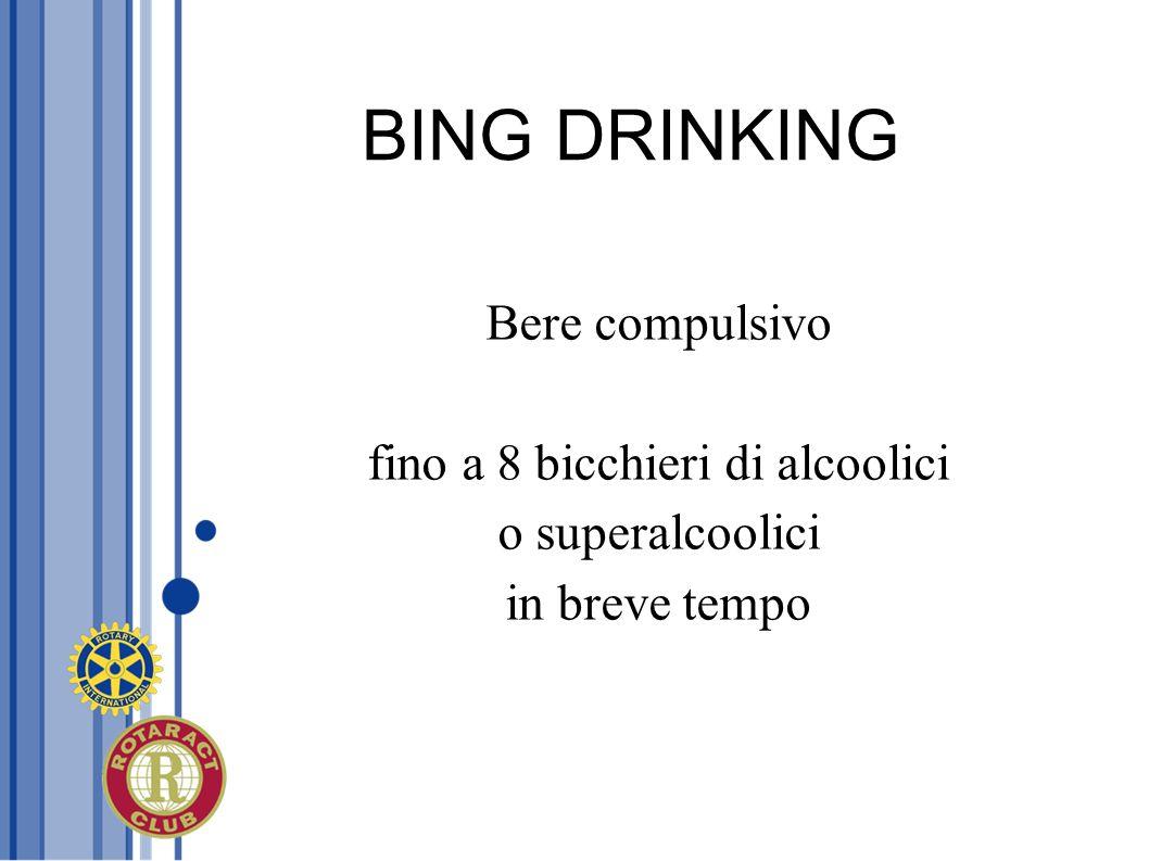 fino a 8 bicchieri di alcoolici