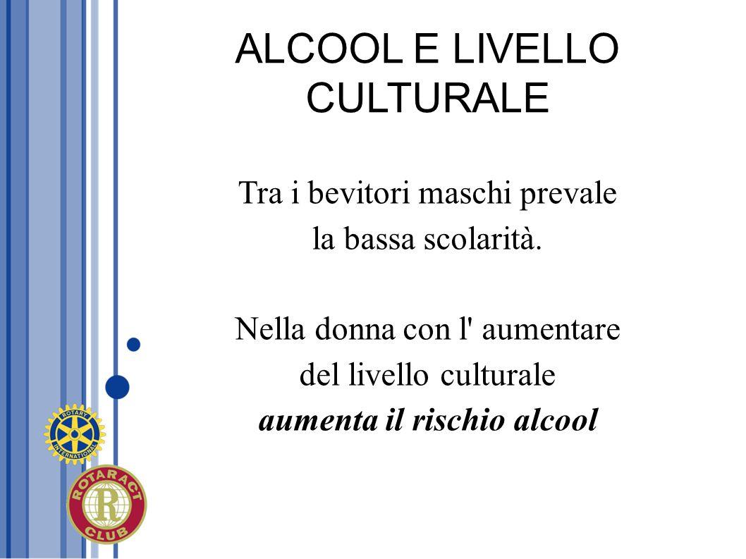 ALCOOL E LIVELLO CULTURALE