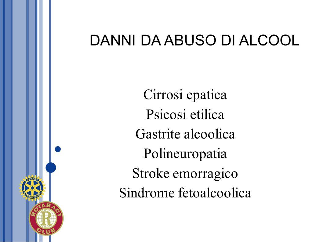 DANNI DA ABUSO DI ALCOOL