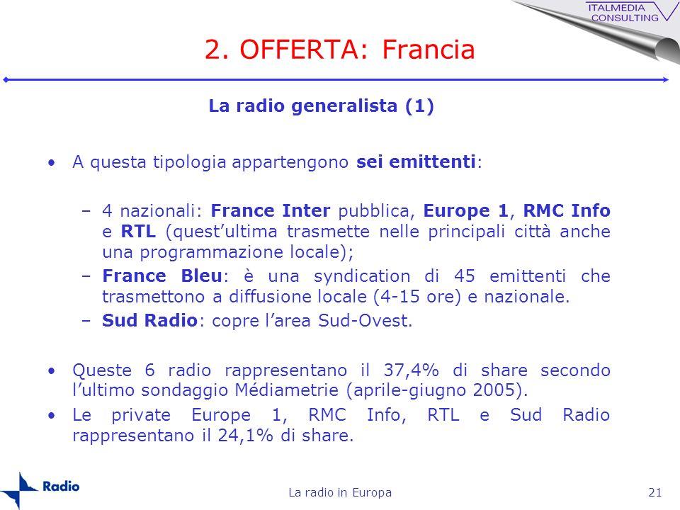 2. OFFERTA: Francia La radio generalista (1)