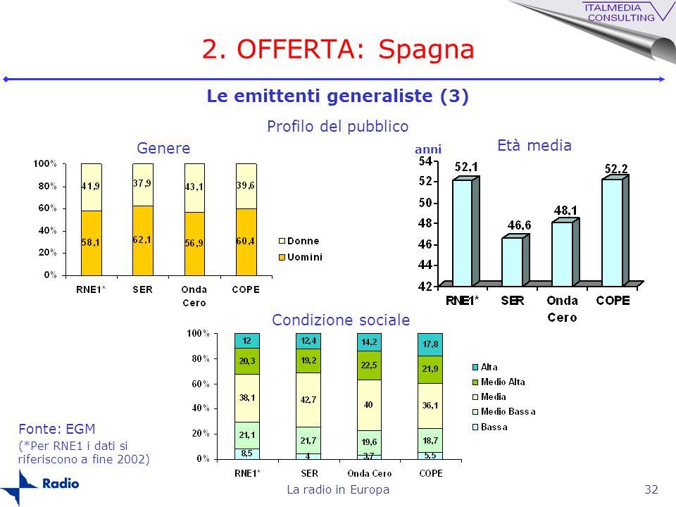 Le emittenti generaliste (3)