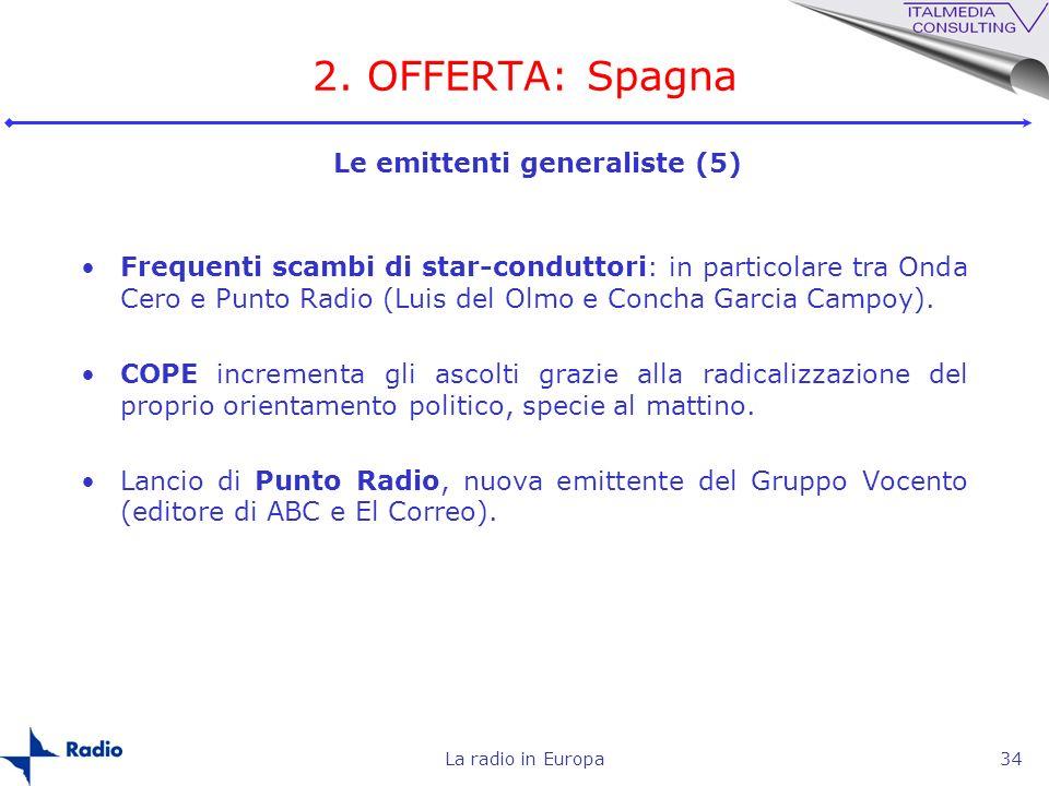 2. OFFERTA: Spagna Le emittenti generaliste (5)