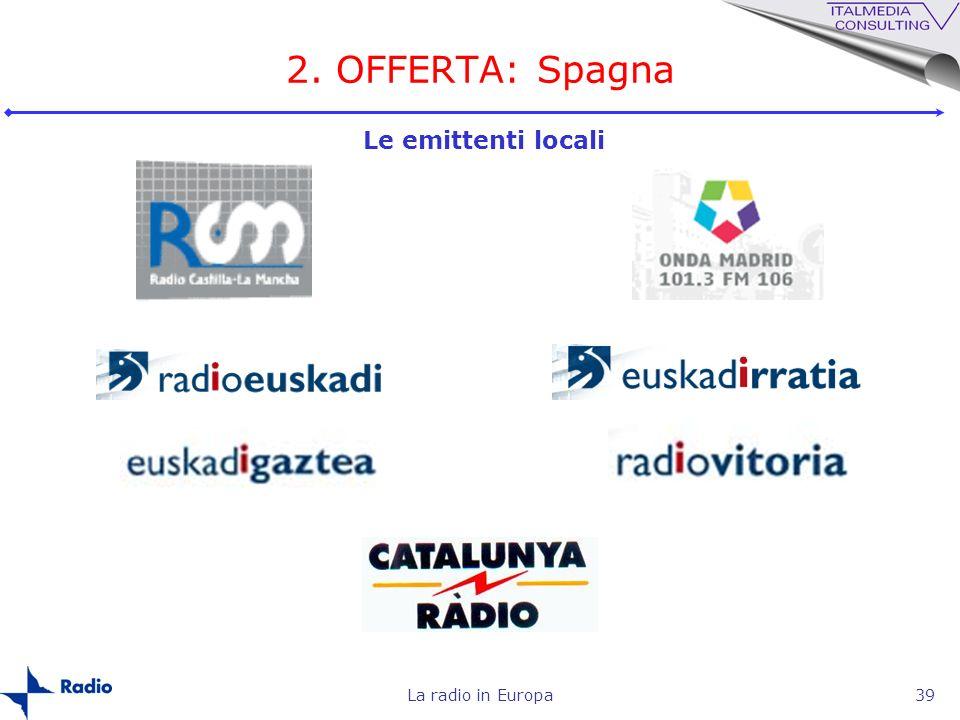 2. OFFERTA: Spagna Le emittenti locali La radio in Europa