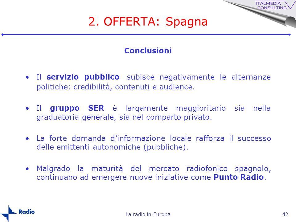 2. OFFERTA: Spagna Conclusioni