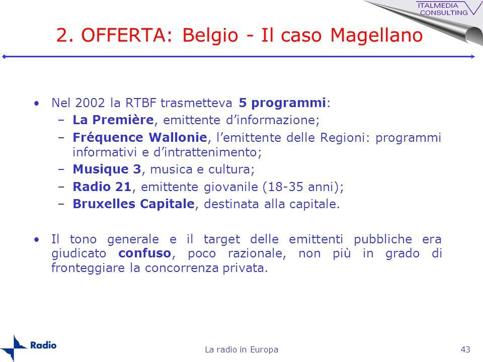 2. OFFERTA: Belgio - Il caso Magellano