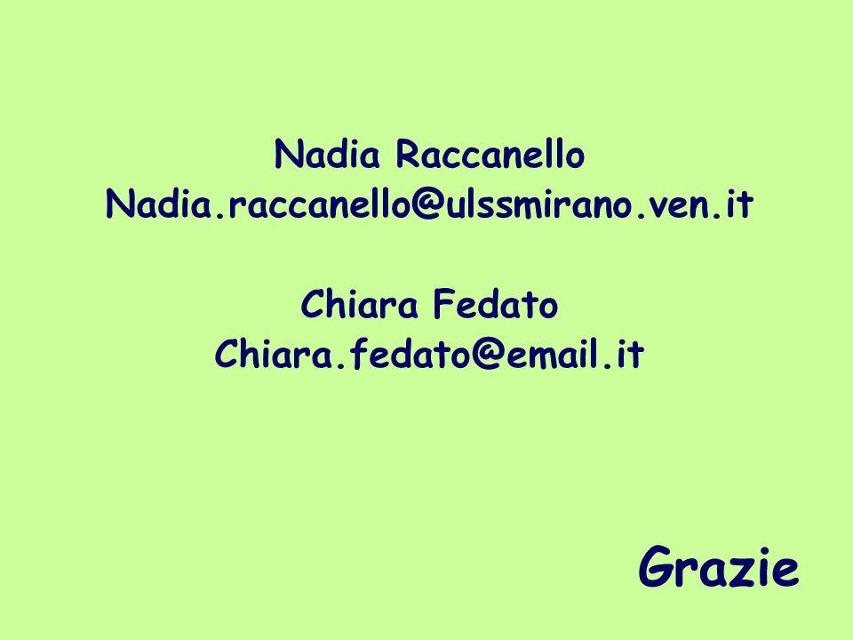 Grazie Nadia Raccanello Nadia.raccanello@ulssmirano.ven.it