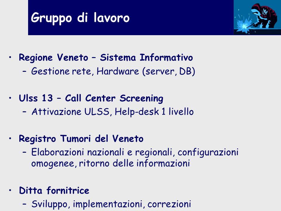 Gruppo di lavoro Regione Veneto – Sistema Informativo