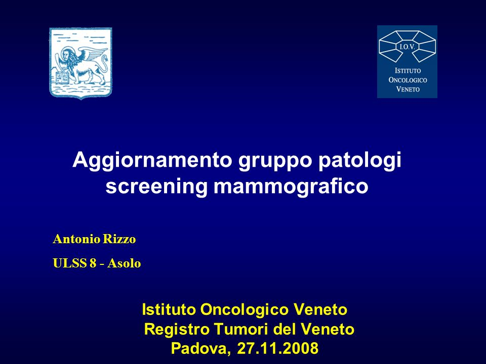 Aggiornamento gruppo patologi screening mammografico
