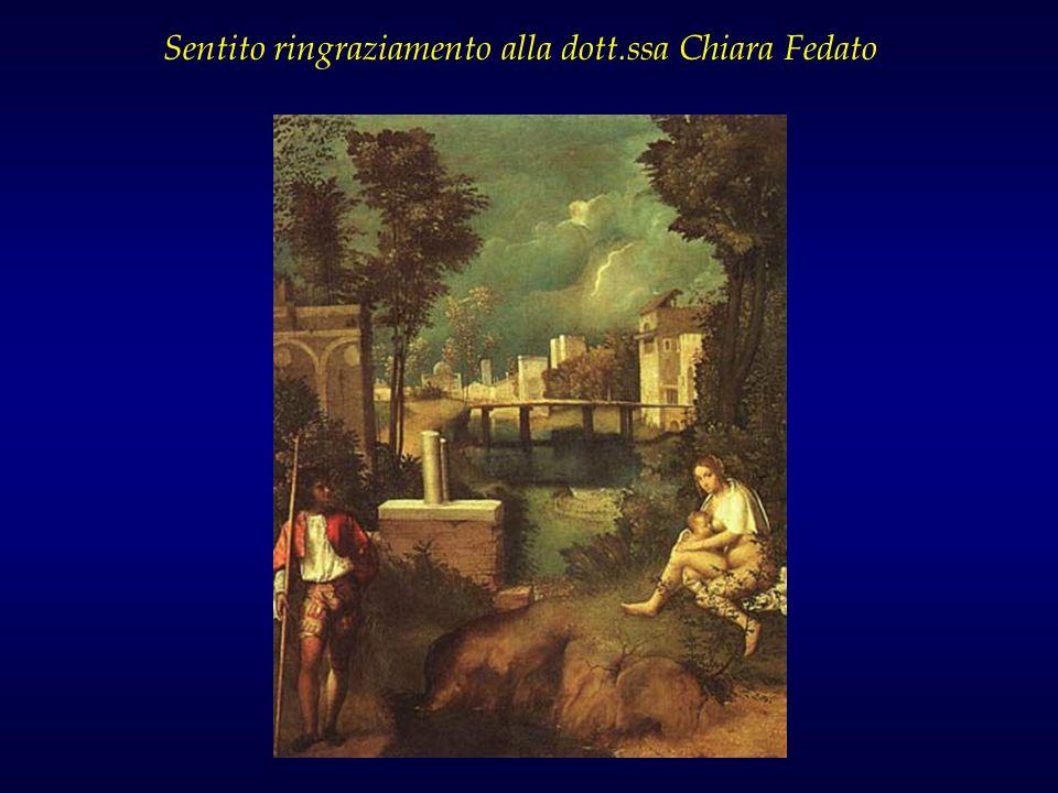 Sentito ringraziamento alla dott.ssa Chiara Fedato