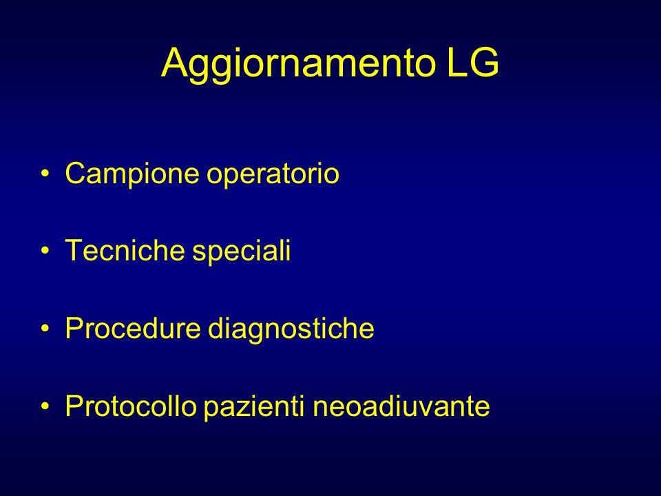 Aggiornamento LG Campione operatorio Tecniche speciali