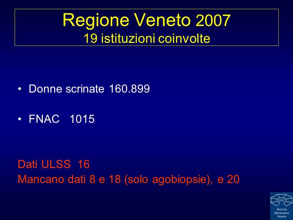 Regione Veneto 2007 19 istituzioni coinvolte