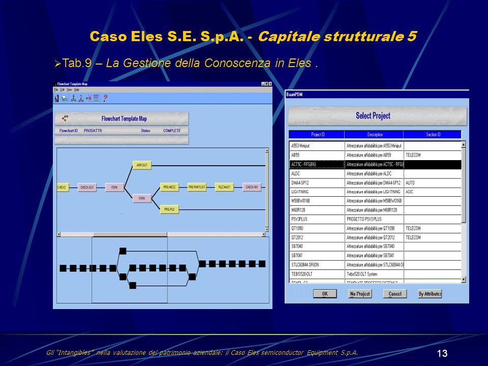 Caso Eles S.E. S.p.A. - Capitale strutturale 5