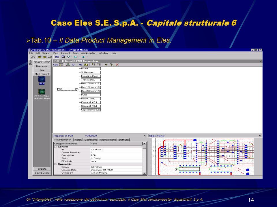 Caso Eles S.E. S.p.A. - Capitale strutturale 6