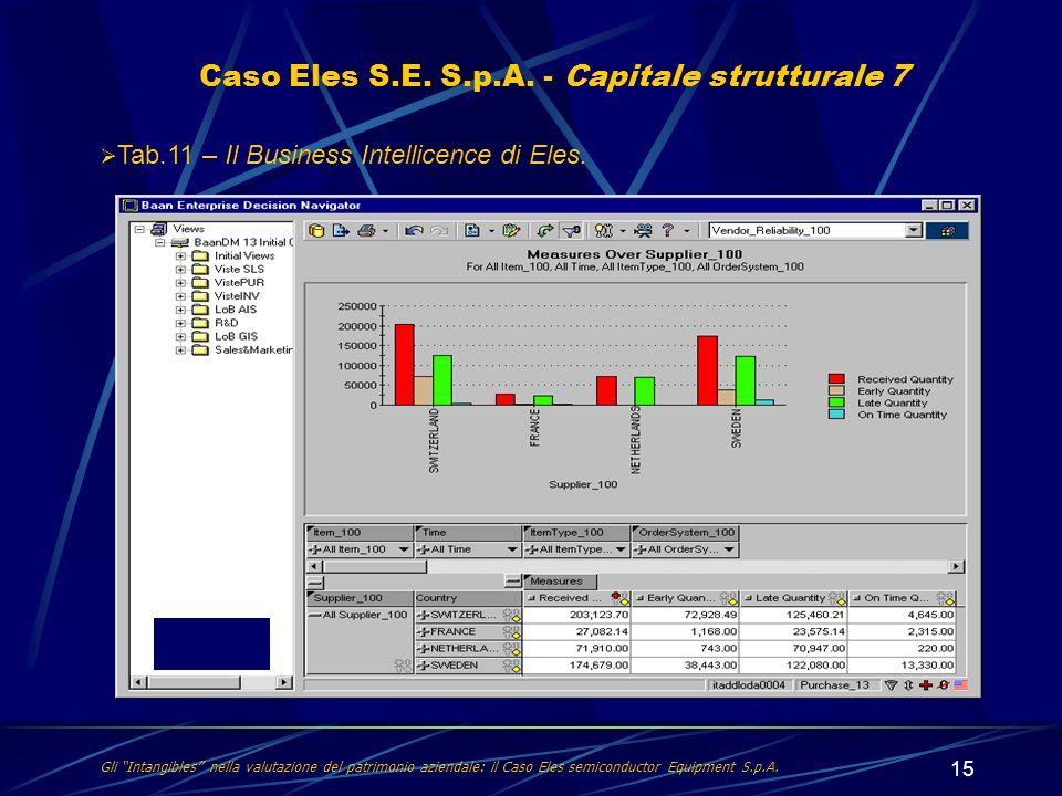 Caso Eles S.E. S.p.A. - Capitale strutturale 7