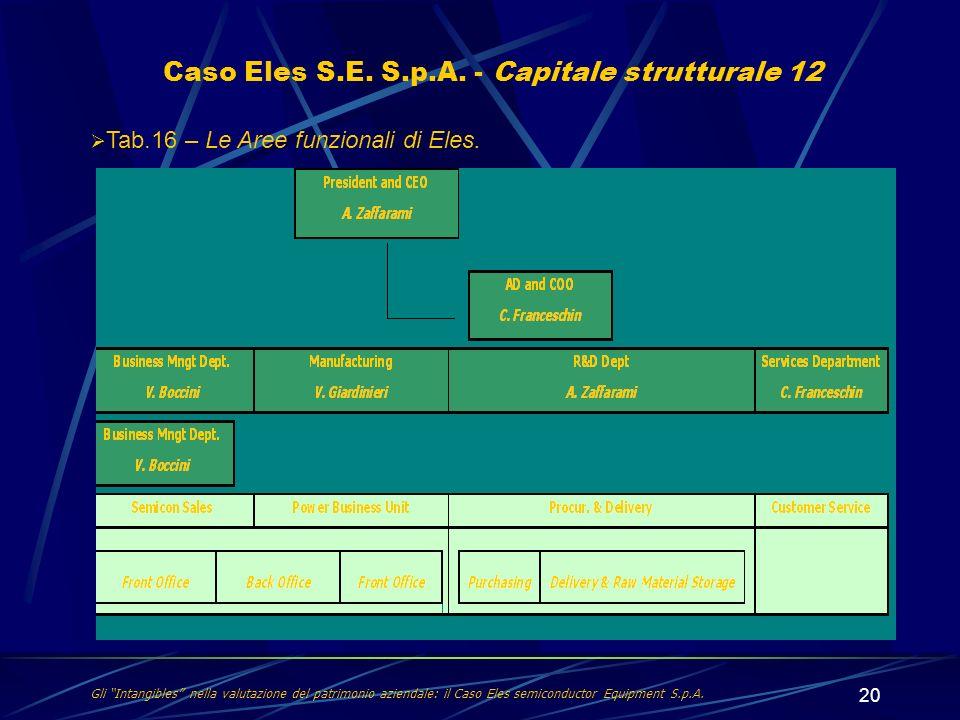 Caso Eles S.E. S.p.A. - Capitale strutturale 12