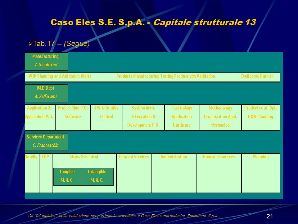 Caso Eles S.E. S.p.A. - Capitale strutturale 13