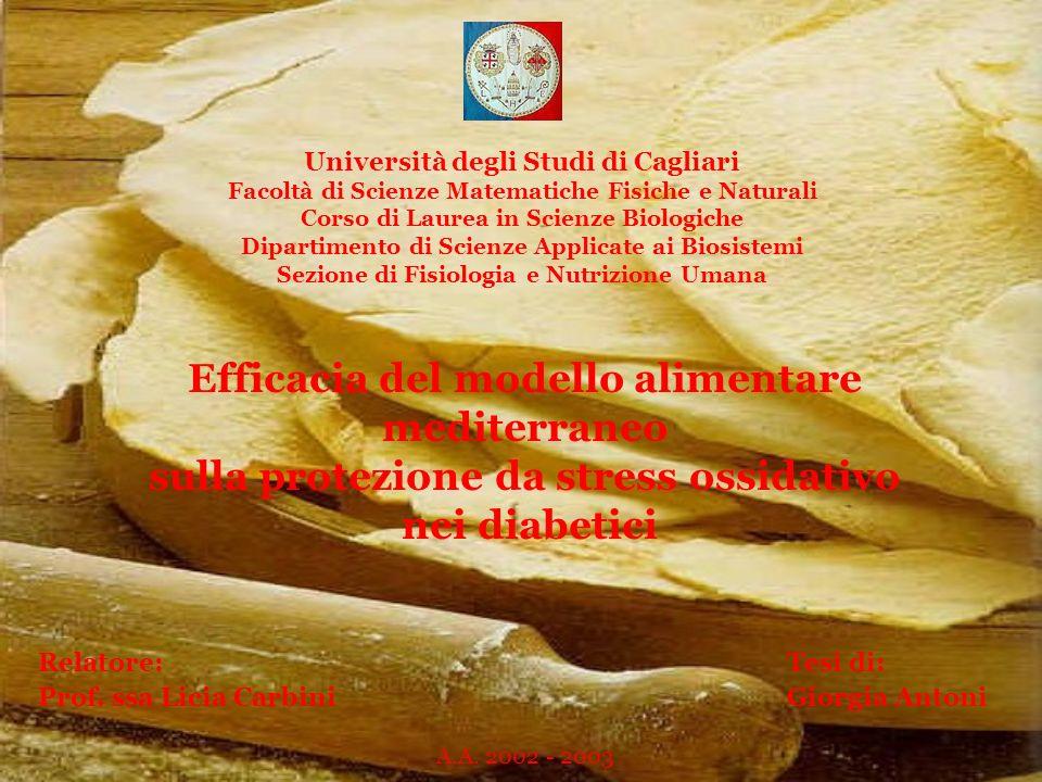 Efficacia del modello alimentare mediterraneo