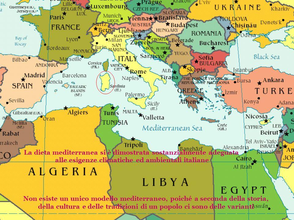 La dieta mediterranea si è dimostrata sostanzialmente adeguata