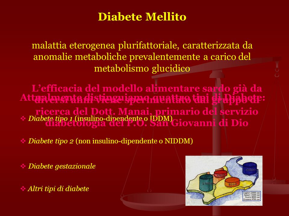 Diabete Mellitomalattia eterogenea plurifattoriale, caratterizzata da anomalie metaboliche prevalentemente a carico del metabolismo glucidico.