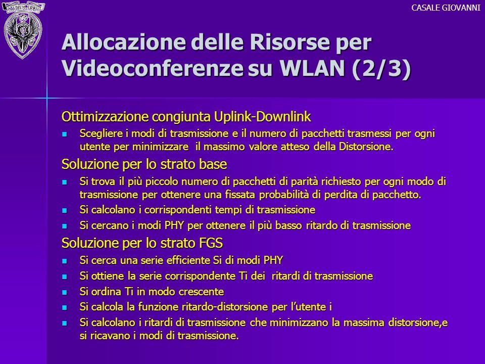 Allocazione delle Risorse per Videoconferenze su WLAN (2/3)