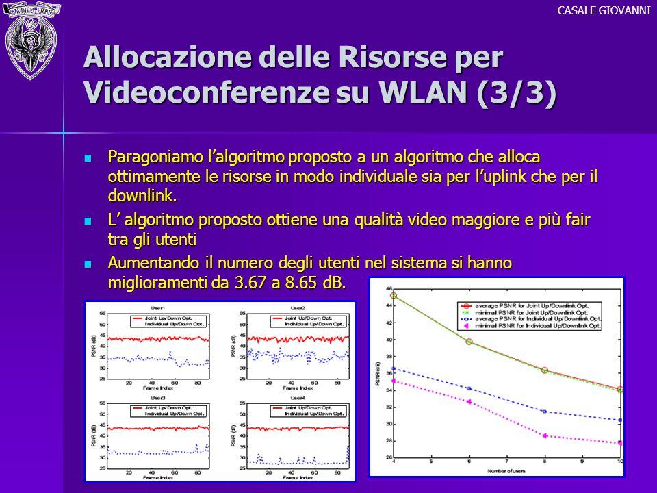 Allocazione delle Risorse per Videoconferenze su WLAN (3/3)