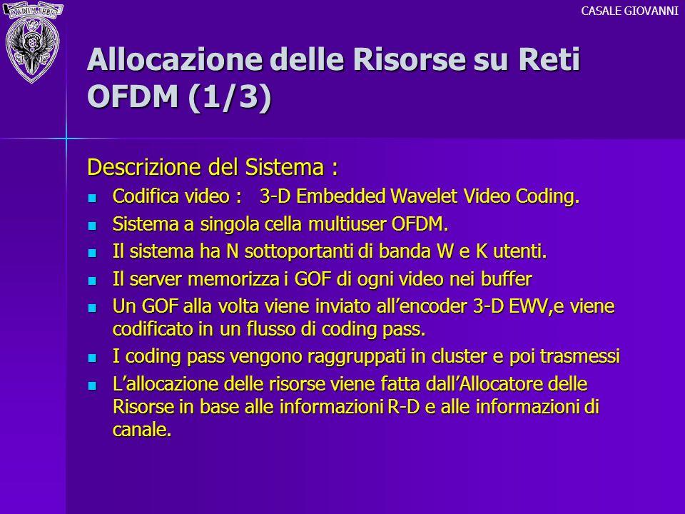 Allocazione delle Risorse su Reti OFDM (1/3)