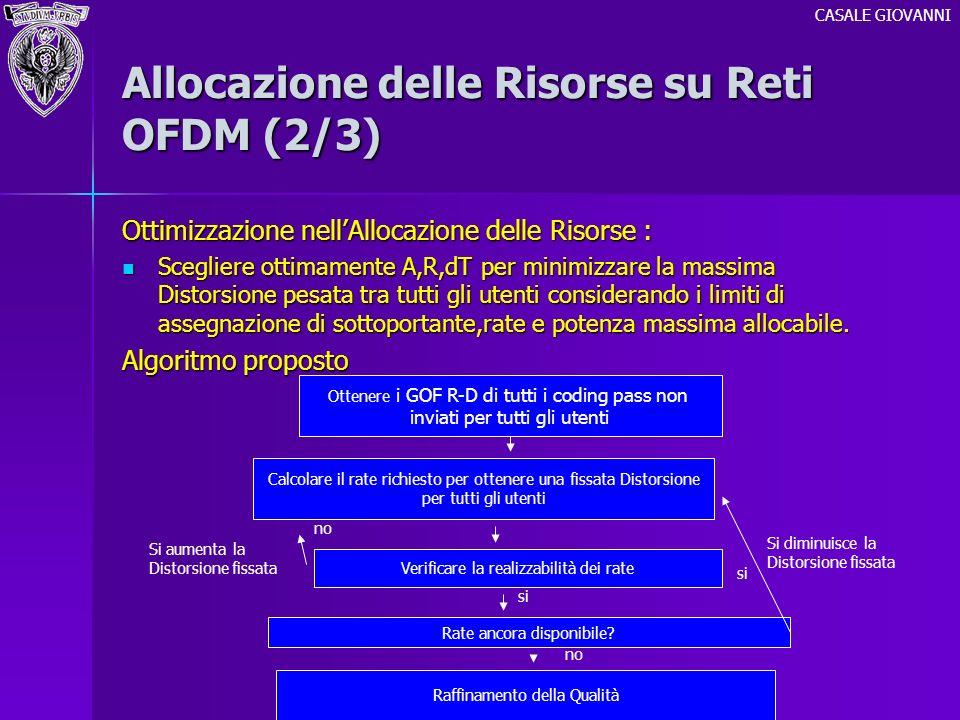 Allocazione delle Risorse su Reti OFDM (2/3)
