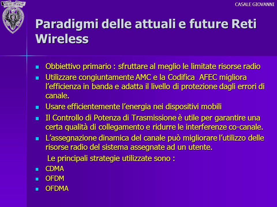 Paradigmi delle attuali e future Reti Wireless