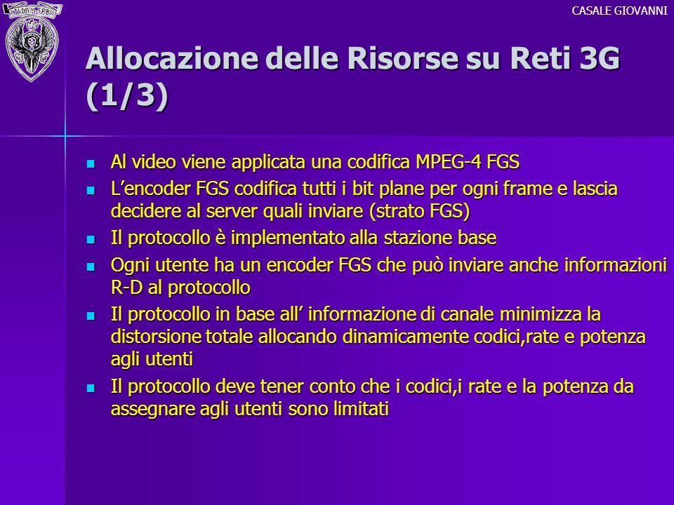 Allocazione delle Risorse su Reti 3G (1/3)