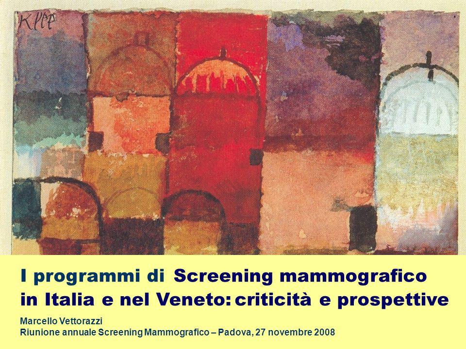 I programmi di Screening mammografico