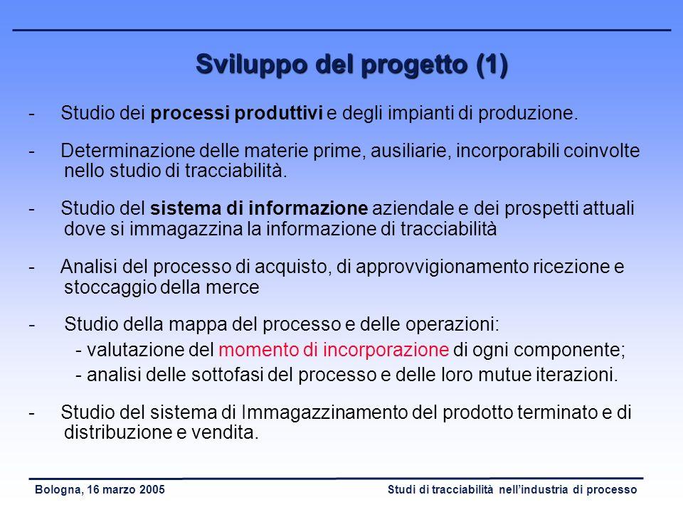 Sviluppo del progetto (1)