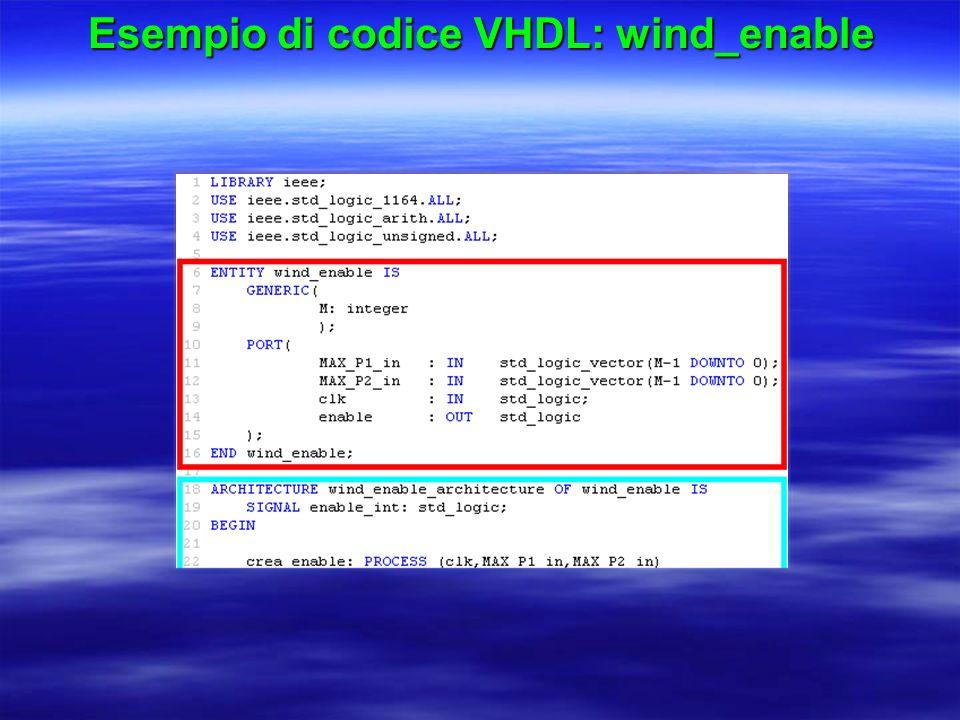 Esempio di codice VHDL: wind_enable