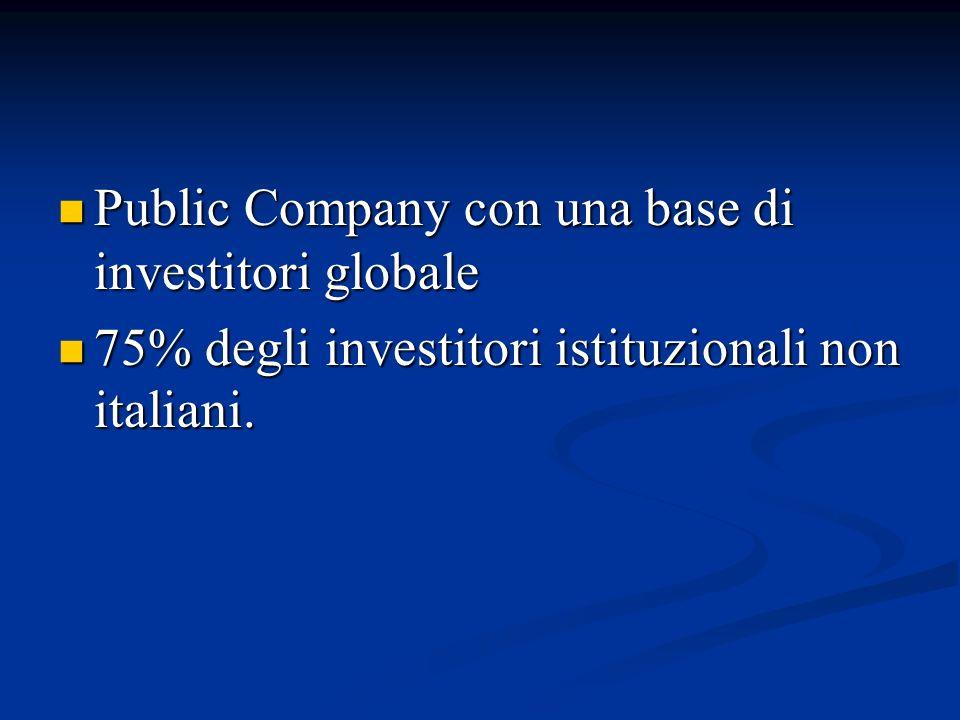 Public Company con una base di investitori globale