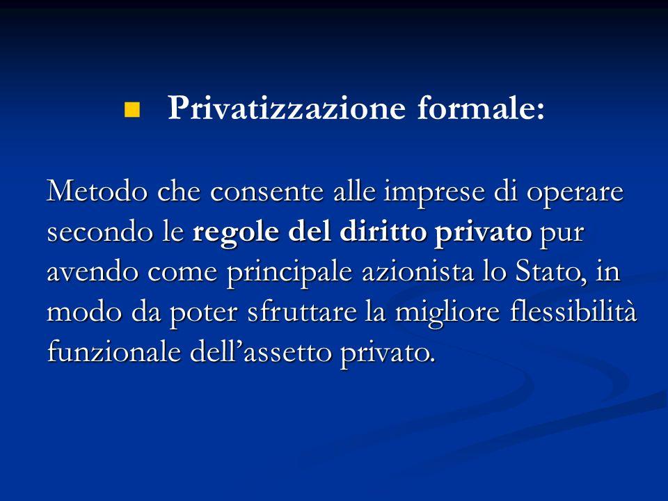 Privatizzazione formale: