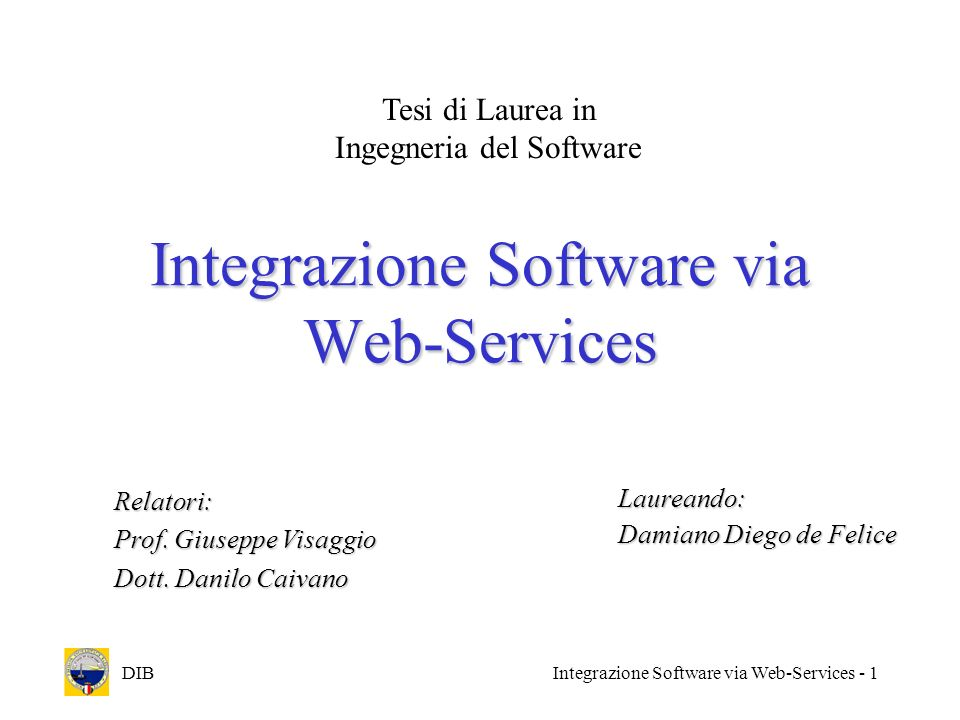 Integrazione Software via Web-Services